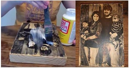 Wooden Picture DIY- How To Transfer Photo To Wood (Video)