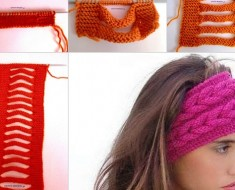 Knitted Faux Braid Headband -beesdiy