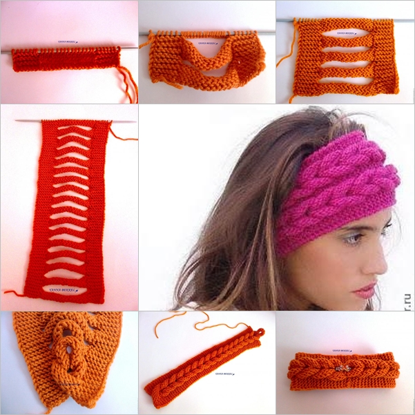 Knit Faux Braid Pattern FREE BeesDIYcom - Diy braid pattern