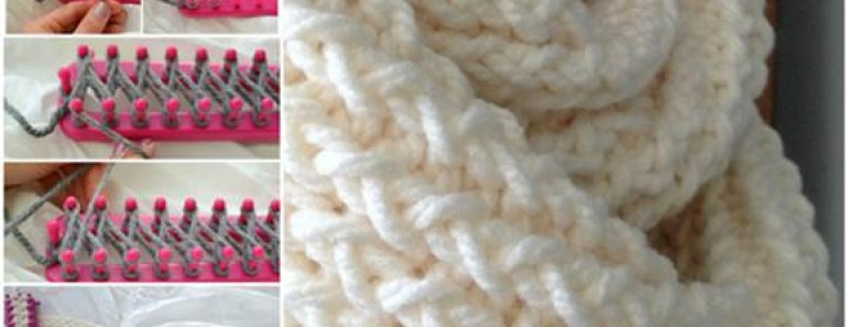 Loom Knitted Scarf DIY Tutorial