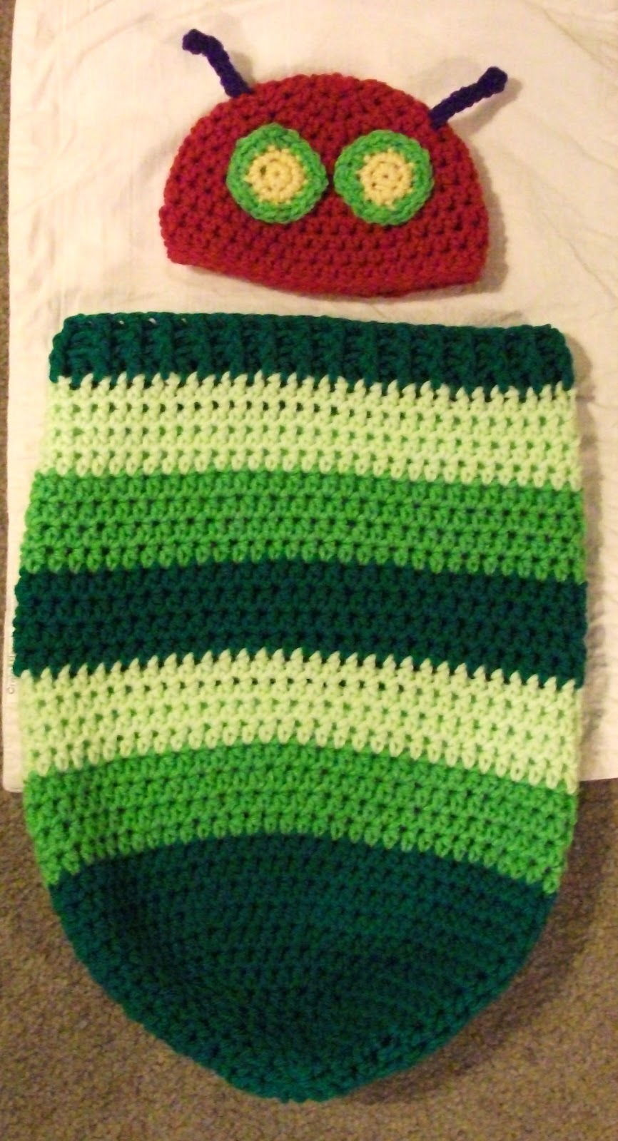 Newborn Caterpillar Hat & Cocoon free pattern2