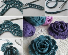 Pretty 3D Lace Rose crochet pattern