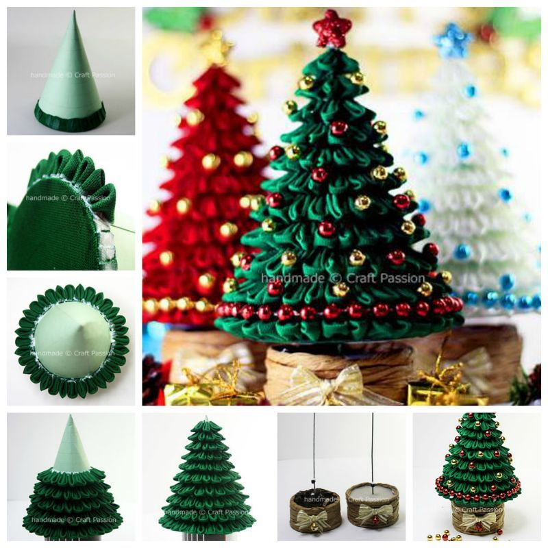 Mini Christmas Tree Diy Using Chocolates And Tinsel