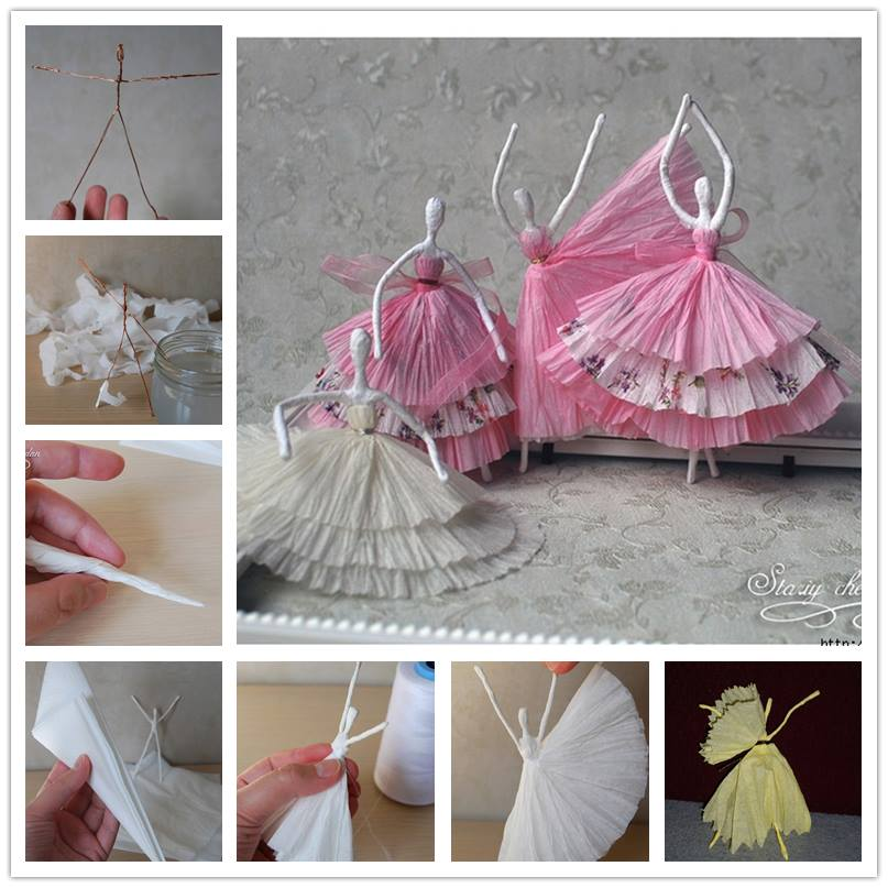 Tissue Paper Ballerina DIY tutorial