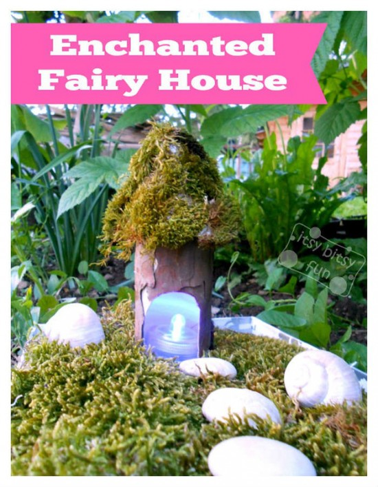 DIY Paper Roll Fairy house