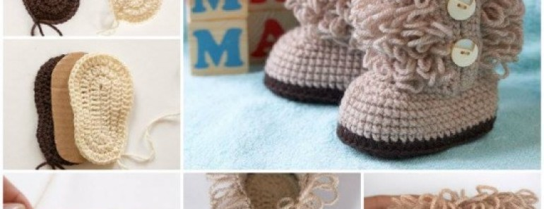 Crochet Booties for Baby – UGG Style