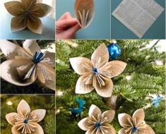 Vintage Dictionary Flower DIY for Christmas