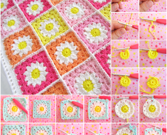 Flower Square Crochet Blanket Patterns