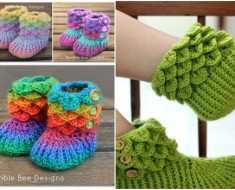 cute crocodile stitch bootie patterns