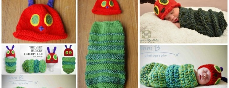 Caterpillar Hat & Cocoon Set (Free Pattern)