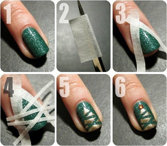 20+ Festive Christmas Nail Art Ideas