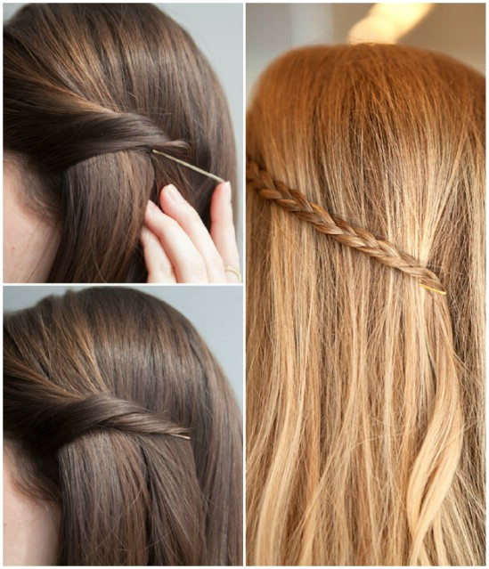 Hairstyle Hacks - 20 Fabulous Ways to Use Bobby Pins1