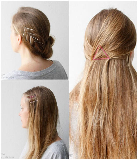 Hairstyle Hacks - 20 Fabulous Ways to Use Bobby Pins2