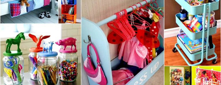 28 Smart Hacks to Organize Kid's Room Beautifully