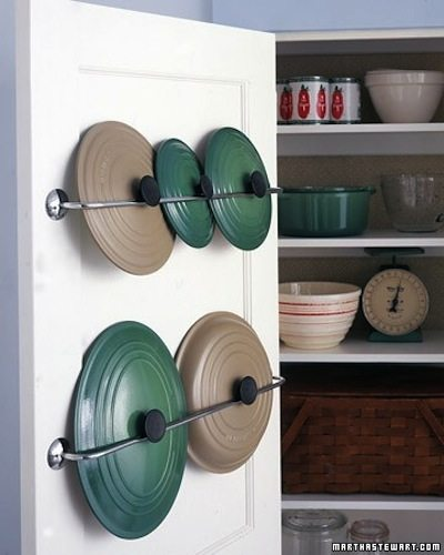 50+ Brilliant Home Storage Ideas & Solutions - Clever Lid Storage