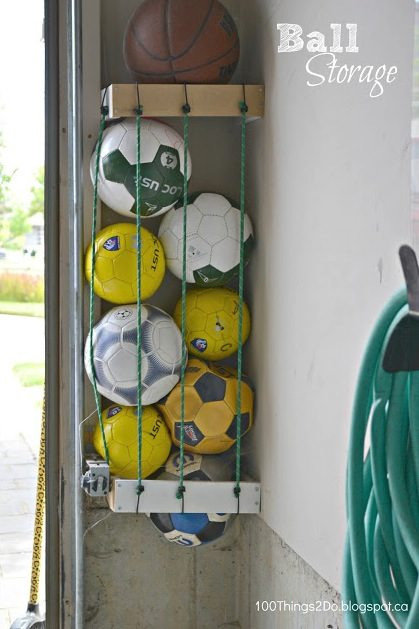 50-Home-Storage-Solutions-Ideas-DIY Ball Storage