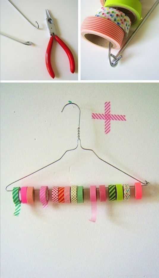 50+ Brilliant Home Storage Ideas & Solutions - DIY Tape & Ribbon Holder