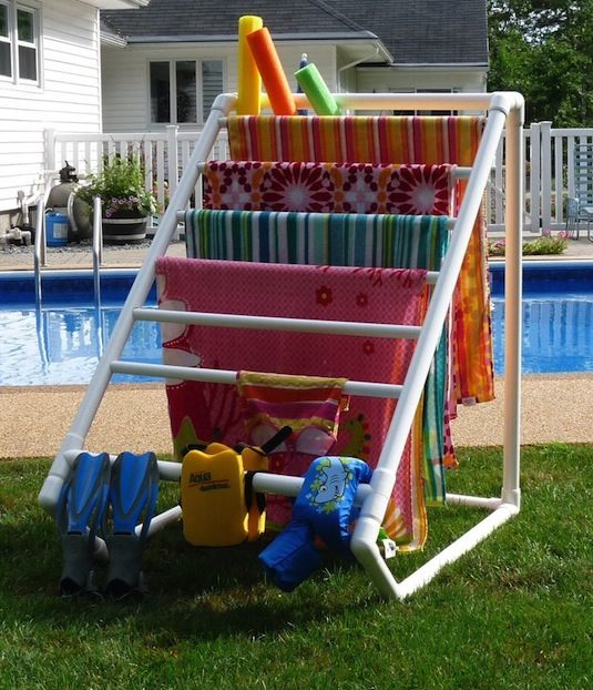 50-Home-Storage-Solutions-Ideas-Outdoor Towel Storage Rack