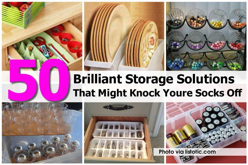 50+ Brilliant Home Storage Ideas & Solutions