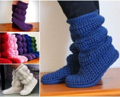 Cozy Crochet Holly Doll Slipper Boots Pattern