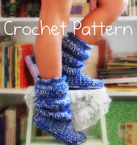Cozy Holly Doll Crochet Slipper Boots Pattern Beesdiy