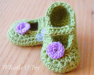 Crochet Mary Jane Baby Slippers Pattern (FREE) 10
