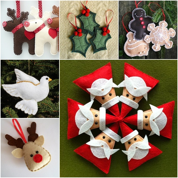 diy christmas felt ornaments pattern