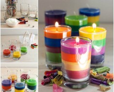 DIY Crayon Candles Easily