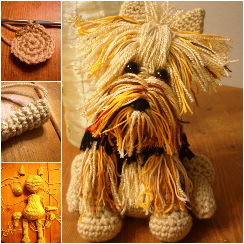 Adorable Amigurumi Yorkie Dog Crochet Pattern (FREE)