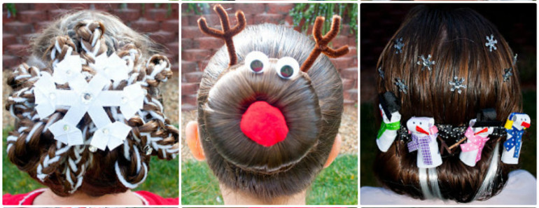 DIY Festive Christmas Hairstyle
