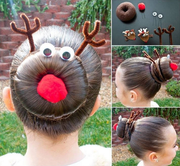 DIY Festive Christmas Hairstyle1