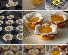 DIY Flower Shaped Lemon Tarts