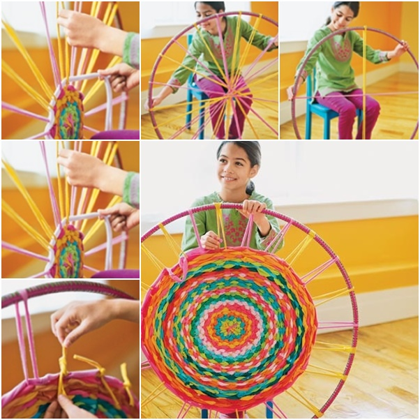 DIY Rug From Old Shirts (Hula Hoop)