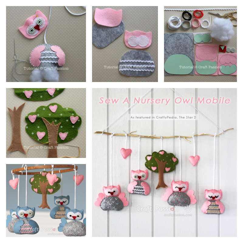 DIY Owl Mobile for Nursery ( Free Pattern)