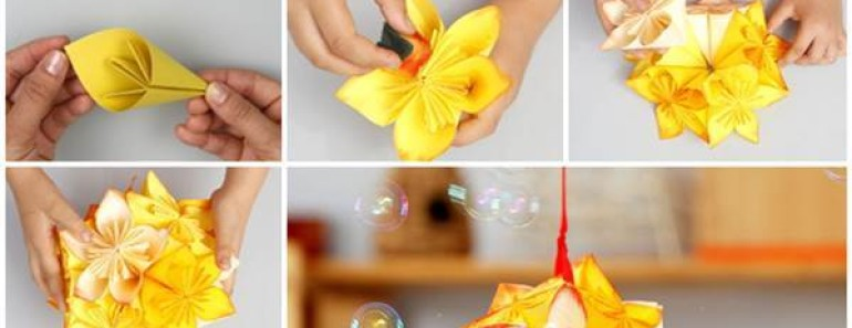 Kusudama flower ball diy paper origami video beesdiy kusudama flower ball diy paper origami video mightylinksfo