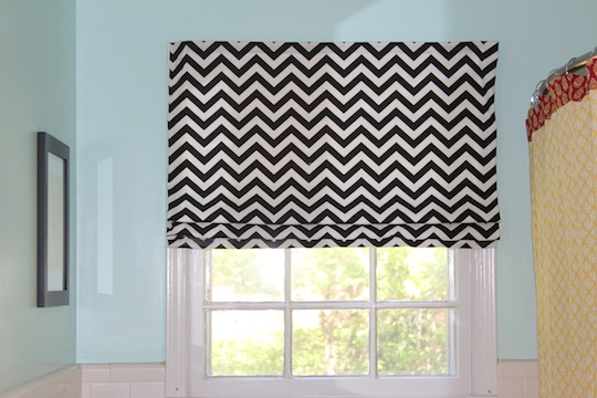 DIY Roman Shades from Ordinary Blinds