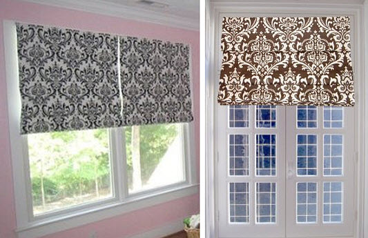 DIY-Pretty-Roman-Shade-from-Ordinary-Blinds 2