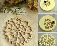 DIY Salt Dough Snowflake Ornament for Christmas