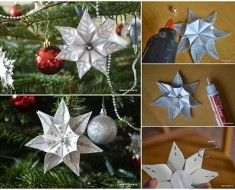 DIY Snowflake Flower Ornament for Christmas