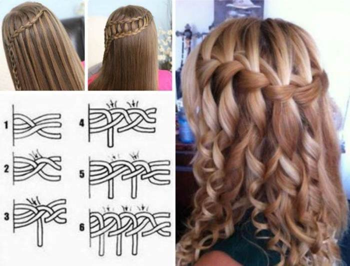 DIY-Stylish-Waterfall-French Braid-Hairstyle