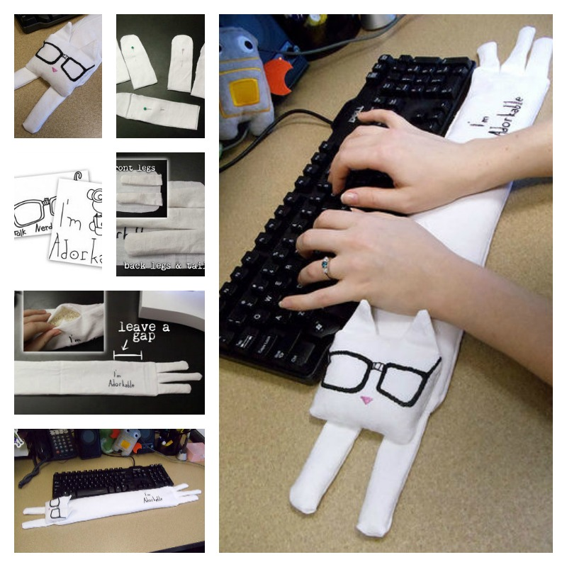 DIY Wrist Rest - Keyboard Cat2