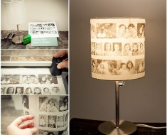 DIY amazing family photo lamp