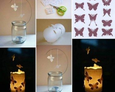 DIY magic Butterfly-Candle Luminaries