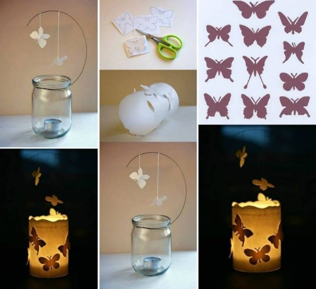 DIY Magic Floating Butterfly Candle Luminaries