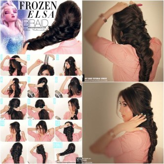 Disney-Frozen-Elsas-French Braid-Hairstyle