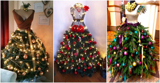 Fashion Inspired Dress Form Christmas Tree | BeesDIY.com