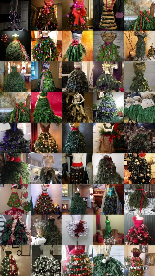 Fashion inspired dress form christmas tree beesdiy