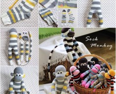 Adorable DIY Sock Monkey