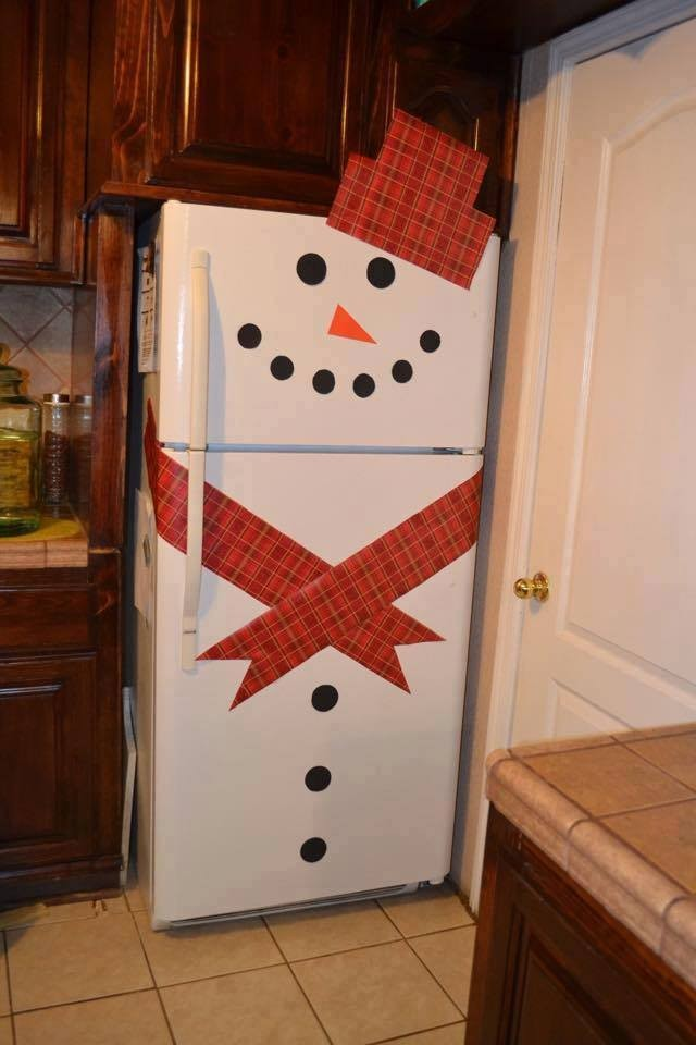 How To Decorate Snowman Refrigerators 4