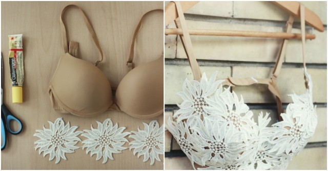 Update Bra - How To Turn A Plain Bra Into A Beautiful Bandeau